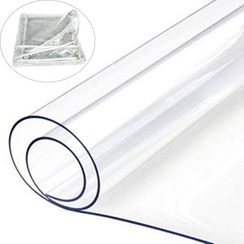 Glass Clear Tarpaulin Transparent PVC Waterproof Tarpaulin, Waterproof Outdoor Waterproof Tarpaulin With Buttonhole, For Garden Furniture/car/balcony, 11 Sizes (Color : Clear, Size : 2X3M)