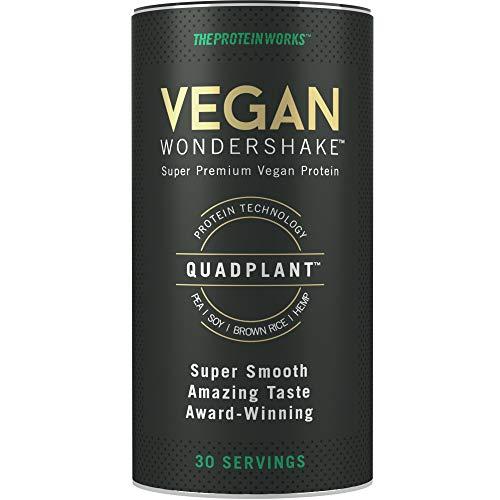The Protein Works Vegan Wondershake | Frullato Vegano Proteico | Super Vellutato, Gusto Delizioso | 30 Porzioni | Brownie Menta & Cioccolato - 750 g