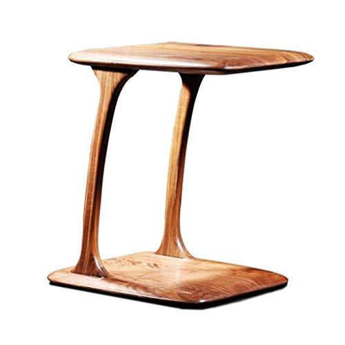 NBVCX Möbel Dekoration Beistelltische Beistelltisch Beistelltische C-förmiges Walnussholz Kleine Couch Sofa Beistelltisch Einfach Kreativ Wohnzimmer Schlafzimmer Teetisch Couchtisch 43,5 * 35 * 50 cm
