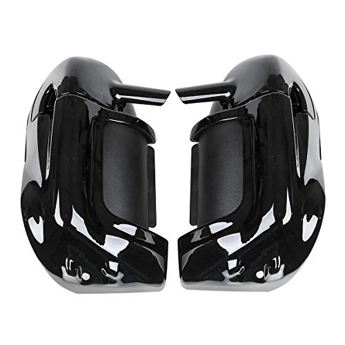 Black Motorcycle Lower Vented Leg Fairing with 6.5'' Speakers +Grills Compatible with Harley Davidson Electra Street Glide 1983-2013