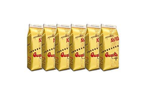 Caffè Quarta Avio Oro café moulu N. 6 paquets de 250 g. Italienne Café Pouilles Salento produit...