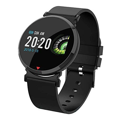 Sports Watch,Winnes Smart Bracelet Fitness Tracker IP67 Waterproof Color Screen Heart Rate Monitor Sleep Monitor with Pedometer for iOS and Android Smart Phones (Black Silicone Strap)