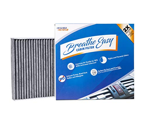 Spearhead Premium Breathe Easy Cabin Filter, Up to 25% Longer Life w/Activated Carbon (BE-157)