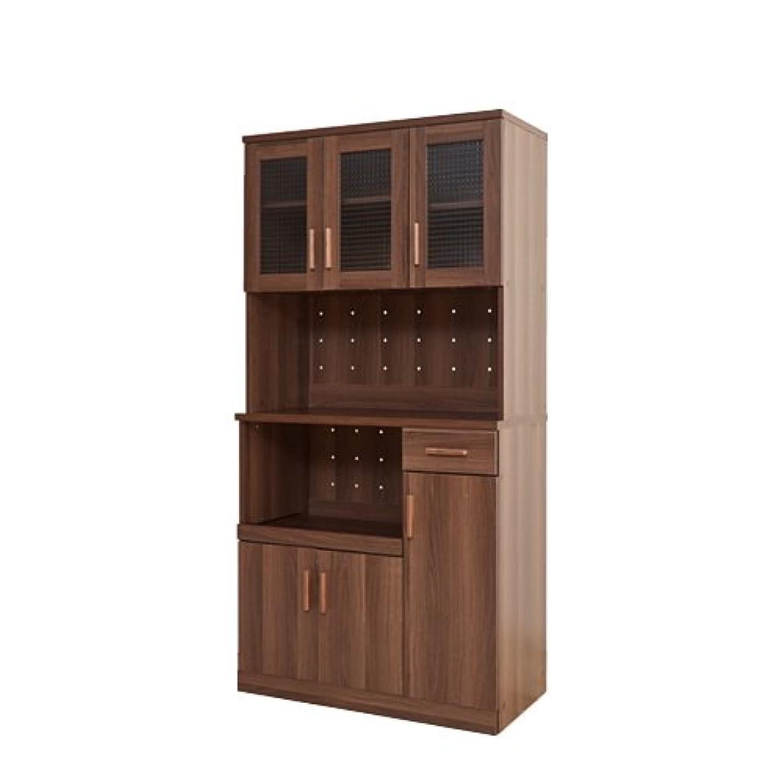狂気クロニクル聞くブラウン/食器棚 棚 食器 収納 キッチンボード キッチンラック 高さ180 台所 キッチン キッチン収納 6枚扉 引き出し コンセント付き 可動棚 オープン収納