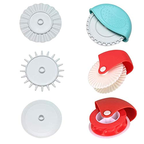 6 Pcs Pastry Wheel Decorator Cutter Cookie Cutter Wheel Pizza Baking Beads Pie Crust Cutters DIY Baking Cooking Tool