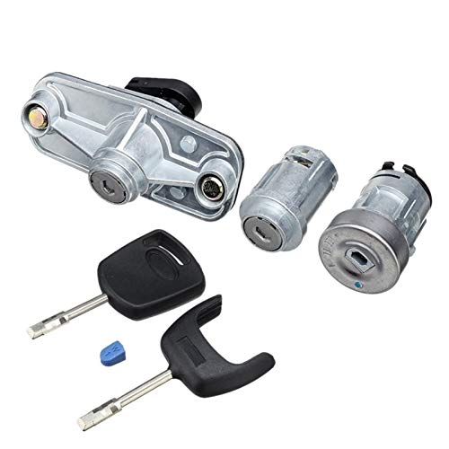 Panel de interruptores Ajuste for la cerradura de la puerta del automóvil Conjunto de encendido Cubierta de la tapa de gasolina Transcubierta trasera Bloqueo de arranque izquierdo FIT FORD MONDEO MK3
