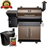 Z GRILLS ZPG-700D 2019 New Model Wood Pellet Grill & Smoker, 8 in 1 BBQ Grill Auto Temperature Control, 700 sq inch Cooking Capacity, Free Grill Cover