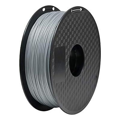 GEEETECH PLA Filament 1.75mm 1Kg spool for 3D Printer,Vacuum Packaging,Silver