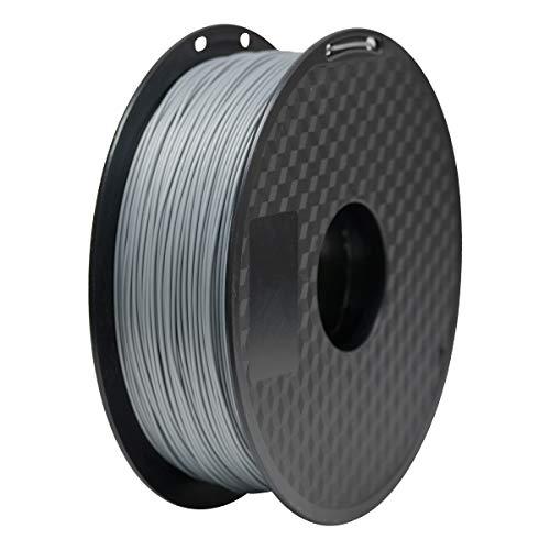GEEETECH 3d filamento pla, 3d pla filamento 1.75 mm 1 kg, High Quality Reliable 3d Printing filamento For 3d printer, color: Argento