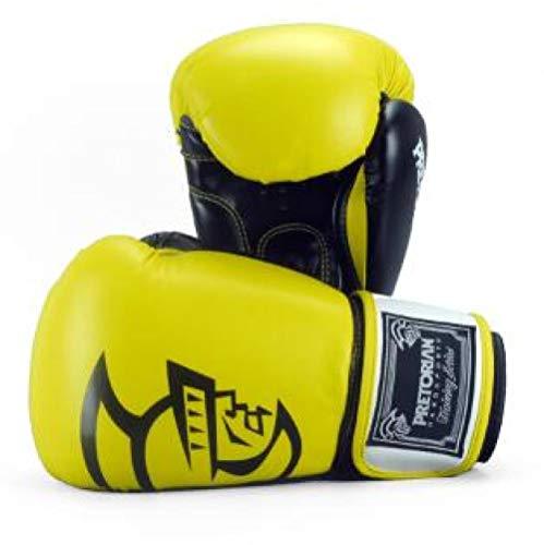 SHOUTAO 10-16 Unzen Muay Thai PU Leder Boxhandschuhe 5 Farben MMA Doppelkampf Frauen Männer MMA Gym Training Boxhandschuhe@Gelb_14oz