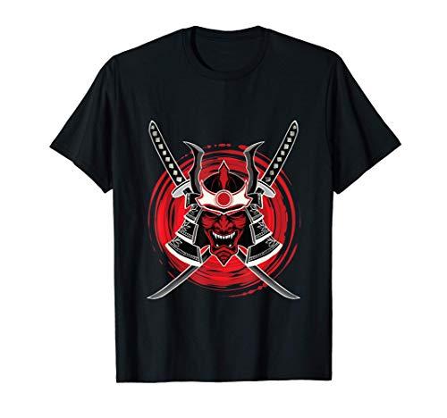 Samurai Guerrero Máscara Japonesa Bushido Samurai Camiseta
