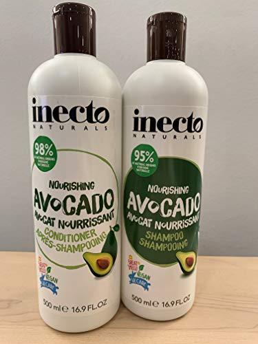 Inecto Naturals- Pack de Champú de Aguacate + Acondicionador de Aguacate