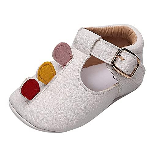 Sandalias de bebé para niña, verano, zapatos de bebé, zapatos de piel, zapatos de bebé, dibujos animados, sandalias de playa, suelo suave, transpirables, Blanco, 21