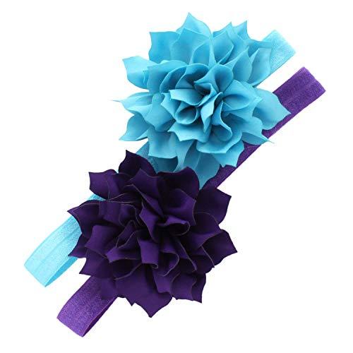 Mi Lello bebé diademas de flores de pétalos, colores mezclados 2 -  Azul -