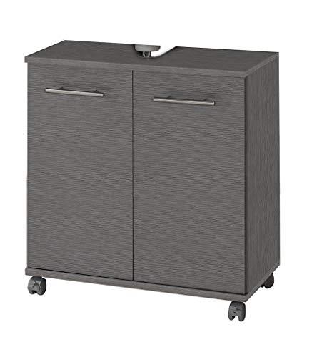 Schildmeyer Waschbeckenunterschrank 120242 Isola, 60x32.5x63.5 cm, esche grau Dekor