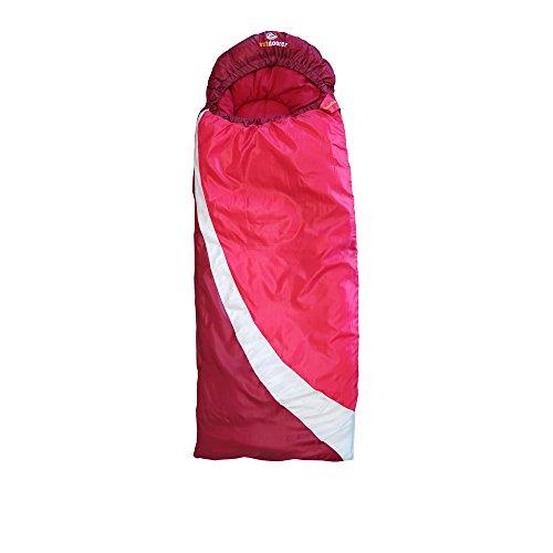 outdoorer DreamSurfer, mitwachsender Schlafsack für Kinder und Jugendliche in blau oder pink - der Jugendschlafsack (pink/weiß)