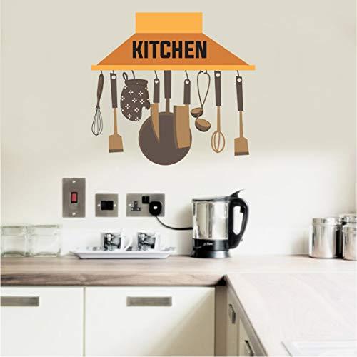 VCREATE DECOR Kitchen Chimney Wall Sticker & Dceal (PVC Vinyl,Size-58 cm X 53 cm)