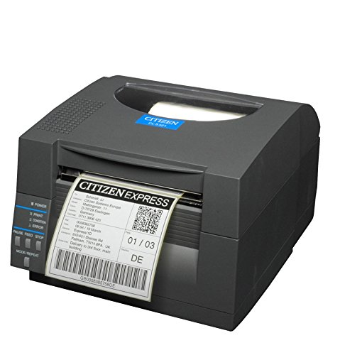 Citizen CL-S521 Thermodirekt Etikettendrucker, 8 Punkte/mm (203dpi), ZPL, Datamax, USB - Seriell (RS232), schwarz (1000815)