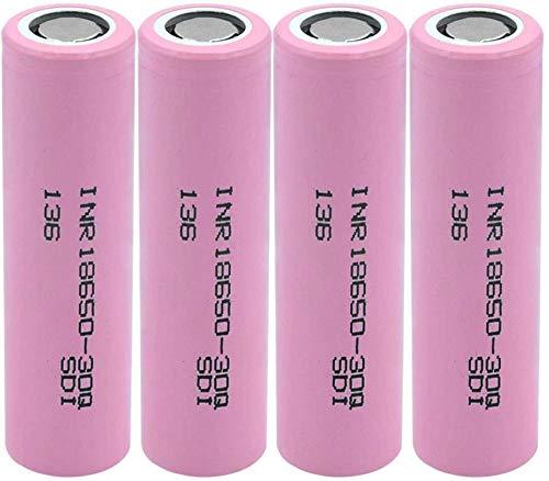 3 7v 3000 mAh 18650 batería de Iones de Litio INR 18650-30Q INR18650 30Q INR1865030Q batería de Litio Recargable para batería de 4 Piezas