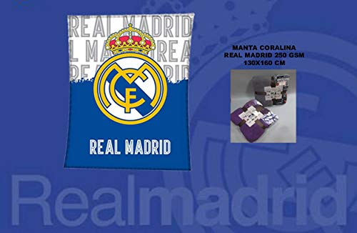 Asditex MantaCoralina Real Madrid 130x160 - Manta