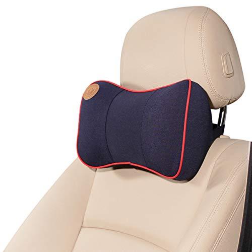 Ergocar Ortopédico Almohada de Cuello - Cojín de Asiento para Coche para Alivio de Dolor de Espalda & Cuello, Cojín para Casa, Oficina, Coche, Viajes (Almohada de Cuello, Azul)