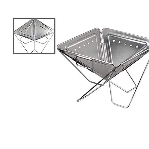 4145Se2MTzL - LMM Metall Outdoor Grillzubehör, Folding Barbecue-Ofen Barbecue Licht Holzkohlegrilgrill Non Stick im Freien
