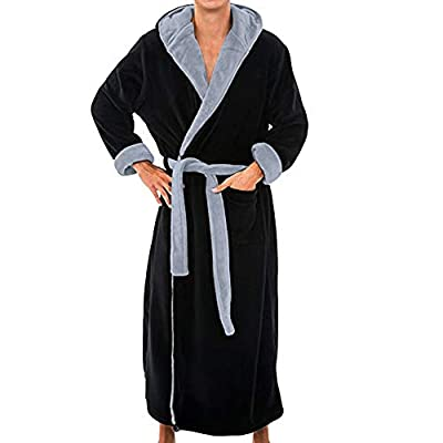 Redshop Men's dept Soft Sleepwear Modal Cotton Wrap Coton Bathrobe Long Kimono Robe Blouse