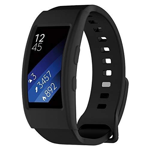 LVDHFUIASDFEFEE Nueva Shell Watch Funda Protectora de Reloj Galaxy Gear Fit2 / Fit2 Pro R360 (Color : Black)