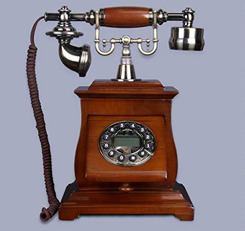 Dirgee Teléfono Antiguo, teléfono Fijo de Alta Gama, Moda de Madera Maciza Creativa, teléfono Celular 25x29cm (Color # 3) (Color : #4)