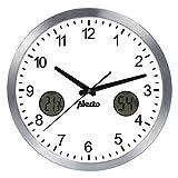 Alecto AK-15 - Reloj de Pared analógico sin Ruido de tictac