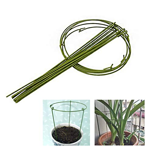 HLLZRY Small Flower Plant Support Cage, Foldable Plant Cage Trellises Stake, Tomato Growth Support Frame, Metal Accessory Bracket 5 Set,XS