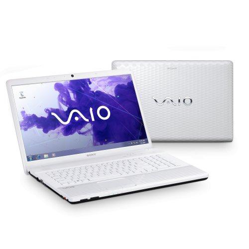 Sony Vaio EJ3L1E/W 43,9 cm (17,3 Zoll) Laptop (Intel Pentium B960, 2,2GHz, 4GB RAM, 500GB HDD, NVIDIA 410M, DVD, Win 7 HP) weiß