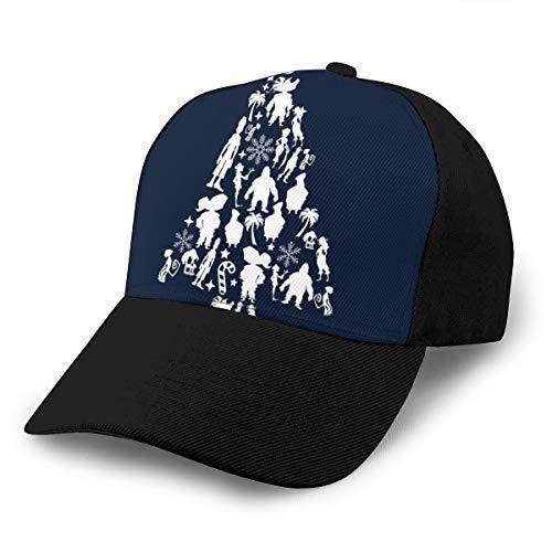 Hongyan Baseballkappe Affe Insel Weihnachts-Silhouette Muster Papa Hut verstellbar atmungsaktiv für Männer Frauen schwarz