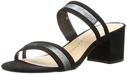Athena Alexander Women's Zayden Heeled Sandal, Black Suede, 9 M US