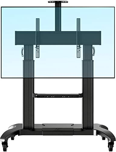 NB North Bayou Mobile TV Cart Heavy Duty TV Stand with Wheels for 60 to 100 inch LCD LED OLED Flat Panel Plasma TV up to 200lbs CF100-B