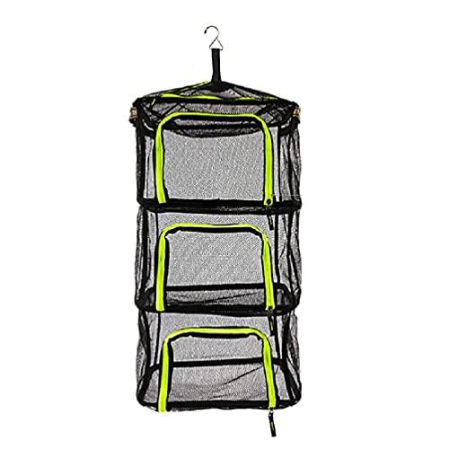 Faltbares Hängeregal für Kräuter mit seitlichem Umhängeband, Camping, Trocken-Reißverschluss, Netz, zum Aufhängen von Kräutern