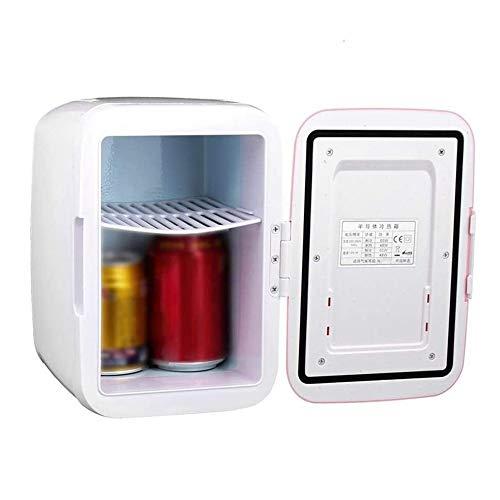 Mini Nevera compacta portátil Rosa enfría y Cabezales 4 litros de Capacidad congelador de Coche hogar Nevera de Coche de Doble Uso