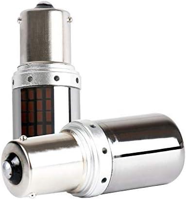 BAU15S PY21W 1156 S25 LED Bulbs Amber Yellow Turn Signal Lights Error Free No Anti Hyper Flash product image
