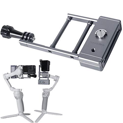 Linghuang - Adaptador de placa de estabilización gimbal estabilizador clip para GoPro Hero 9/8 para Osmo Action placa de montaje para DJI Osmo Mobile 3/ Osmo Mobile 4 Gimbal