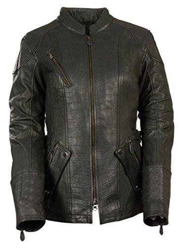 Milwaukee Leather Women's 3/4 Gator Jacket (Black, X-Large)