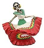 Ebros Dia De Los Muertos Danza De DAMA Red Sugar Skull Lady Dancer Statue 5.25' Tall Day of The Dead Vivas Calacas Figurine
