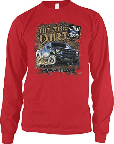 Amdesco Men's Ford Raptor SVT F-150 Long Sleeve Shirt, Red 2XL