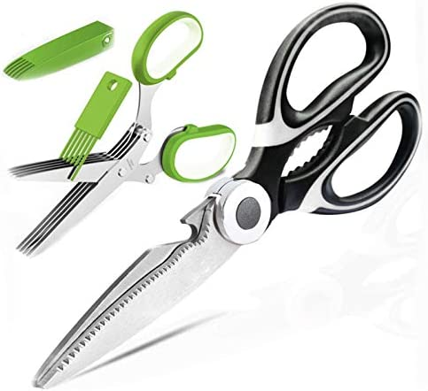 Molovee Kitchen Shears Stainless Steel Kitchen Scissors Heavy Duty with Herb Scissors Sharp product image