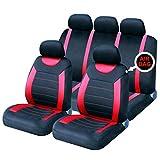 Sakura SS5293 Full Seat Covers Set, Carnaby Red