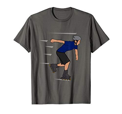 Inliner Skaten Rollschuhe T-Shirt Flip Rennen Rollen
