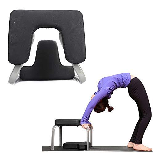 Reposacabezas multifunción para yoga con almohadillas de poliuretano para la silla de inversión taburete, fitness yoga banco de inversión con tubo entrenamiento de ejercicios de yoga