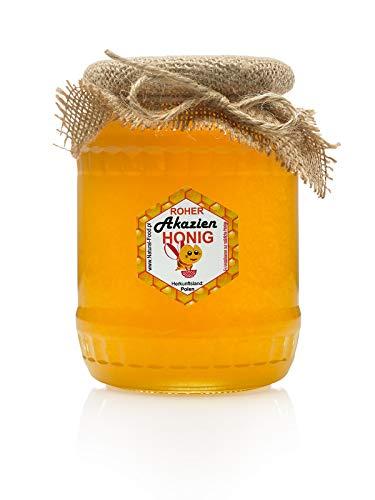 ROHER HONIG direkt vom Imker aus Polen | 1 KG | AKAZIEN | Roh, natürlich, sehr gesund, ohne Zusätze. Ungefiltert, nicht geschleudert oder erhitzt | Gemacht von Bienen