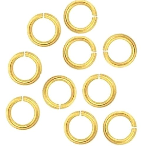 18 Ga Solid Brass 6 Mm O/d Jump Ring 280 P. 1 Oz Saw-cut Made in USA -  Copper Wire USA, 18ga