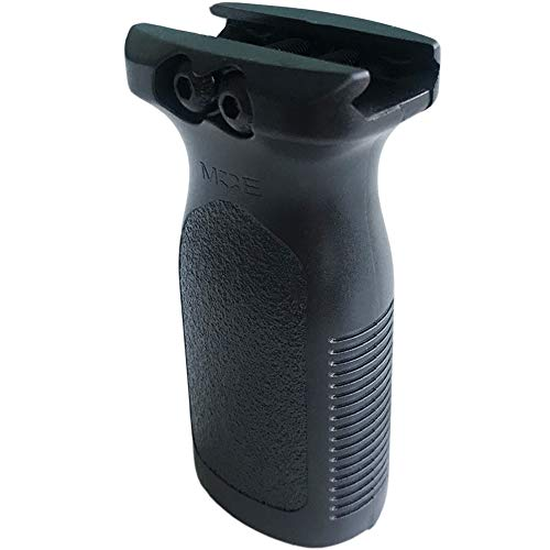 gotyou Nero Vertical Grip AEG Impugnatura,FMA Impugnatura Softair Airsoft Accessori in Nylon,per Sistema di Binari Picatinny da 20MM