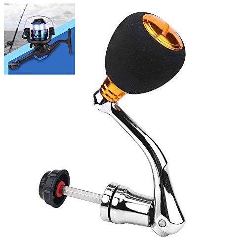 Reel Replacement Metal Power Handle Grip Part - Metal Rocker Arm Grip Fishing Spinning Reel Handle Grip (4000 & 5000 & 6000 Gold-Large)